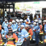 [衝撃映像]神戸バス事故の運転手を連行する瞬間!現場は三ノ宮駅前で場所はフラワーロード!